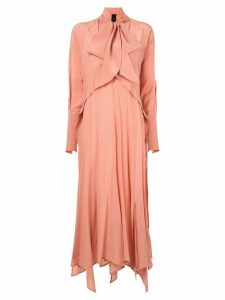 Petar Petrov long-sleeve flared dress - Pink