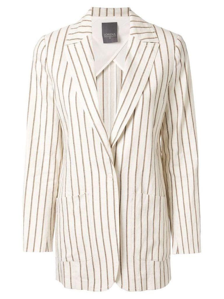 Lorena Antoniazzi striped blazer - White