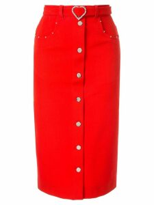 Markus Lupfer Grace denim skirt - Red