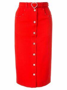 Markus Lupfer Grace denim skirt - Red