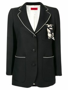 The Gigi Frida contrast trim blazer - Black