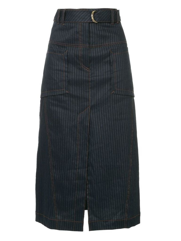 Manning Cartell pinstripe straight skirt - Blue