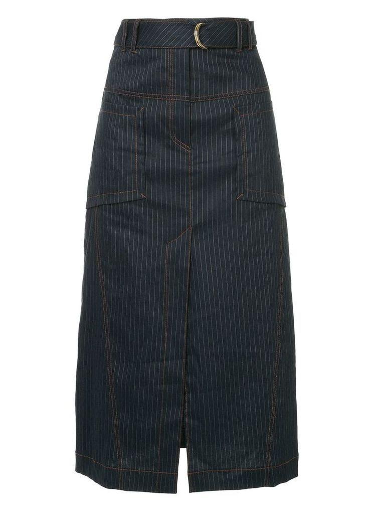 Manning Cartell pinstripe straight skirt - Blue