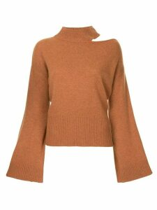 Manning Cartell flared sleeves jumper - Brown