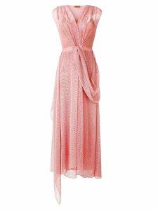 Missoni sheer mesh draped dress - Pink