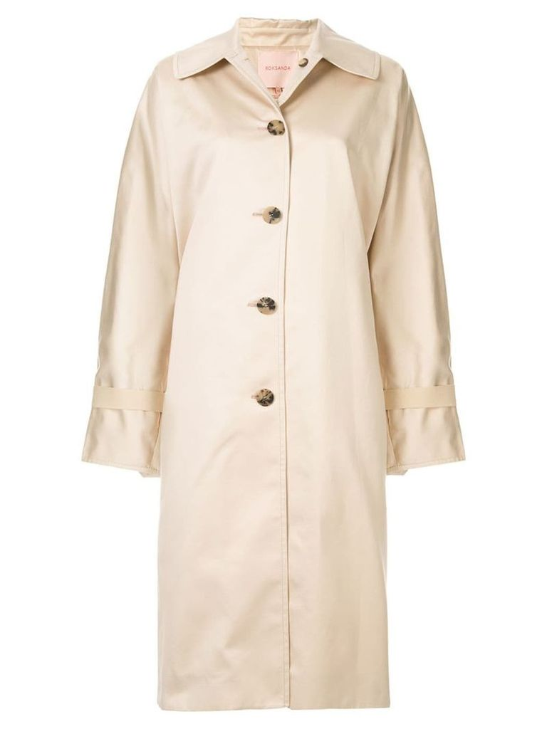 Roksanda over-sized trench coat - Neutrals