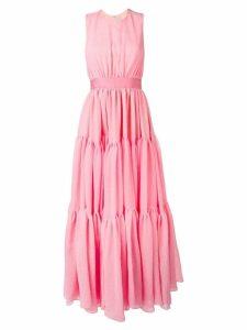 Maison Rabih Kayrouz tiered sleeveless maxi dress - Pink