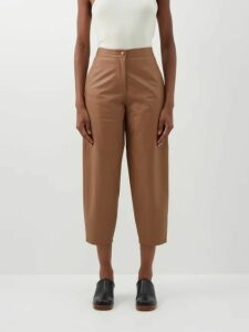 The Row - Amoy Single Breasted Cashmere Blend Coat - Womens - Camel