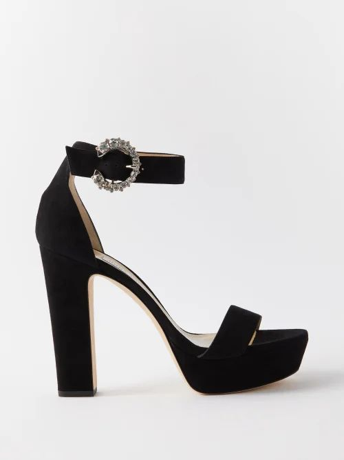 Ganni - Elm Floral Print Georgette Wrap Skirt - Womens - Black