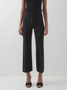 Rodarte - Asymmetric Ruffled Leather Skirt - Womens - White