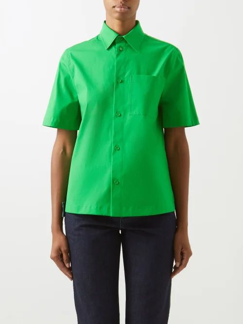 Tibi - Draped Asymmetric Cotton Midi Skirt - Womens - White