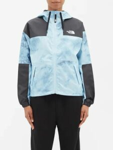 Summa - Houndstooth Single Breasted Cotton Coat - Womens - Black White