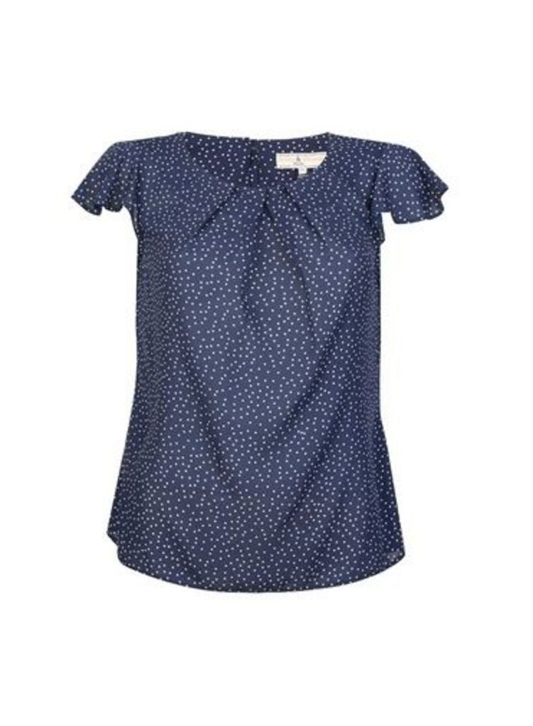 Womens **Billie & Blossom Petite Spot Print Shell Top- Blue, Blue