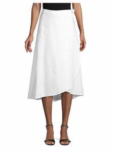 Linen Wrap Skirt