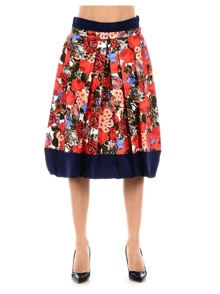 Marni Floral Pleated Skirt