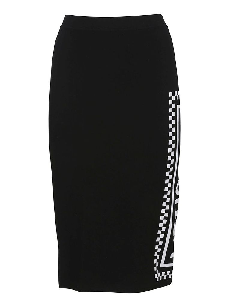 Versace Printed Midi Skirt