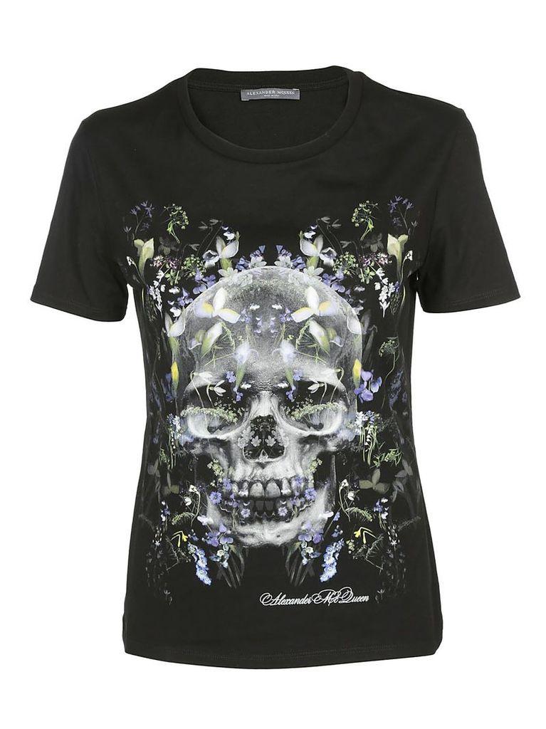 Alexander Mcqueen Skill Floral Print T-shirt