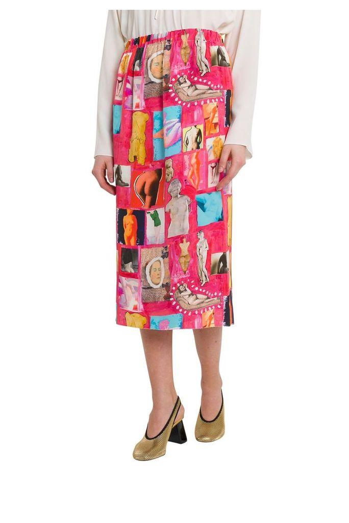 Marni Venere Silk Midi Skirt