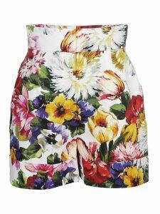 Dolce & Gabbana High Waist Floral Skirt