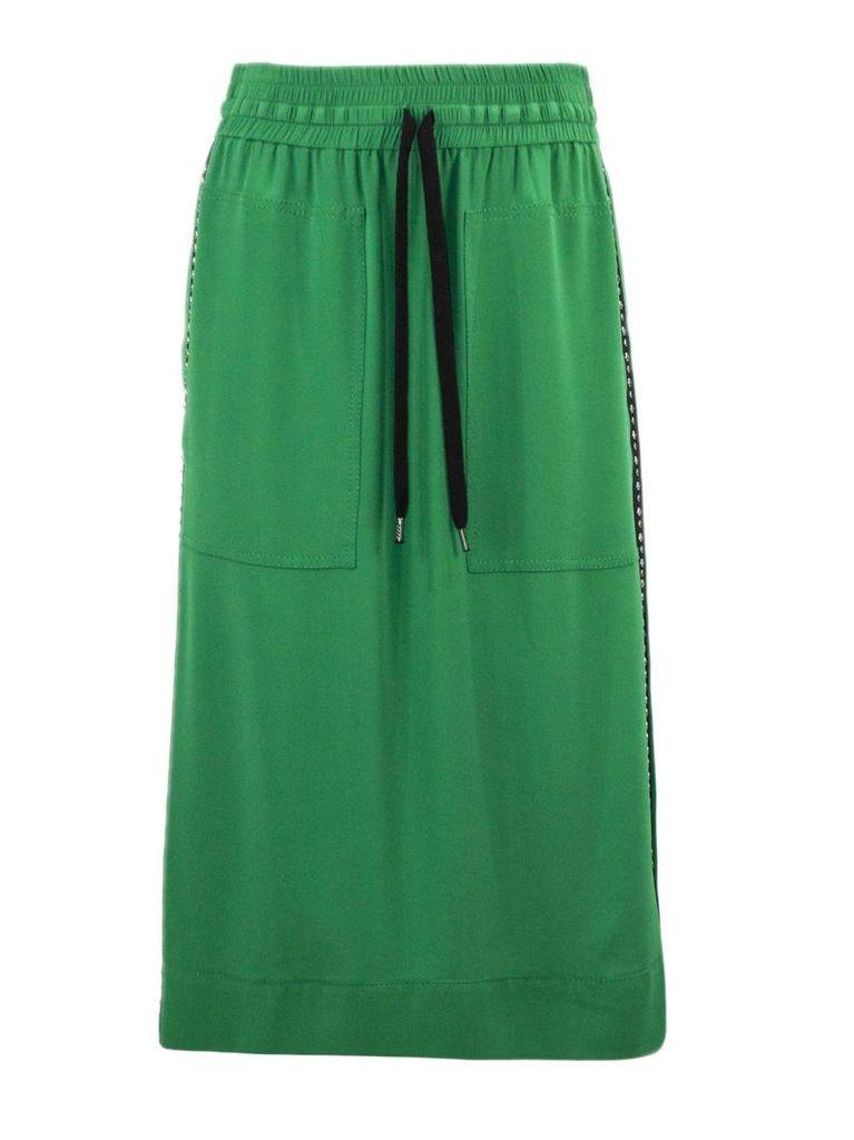 N.21 Green Silk Blend Skirt