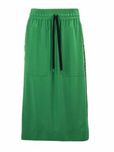 N.21 Green Silk Blend Skirt