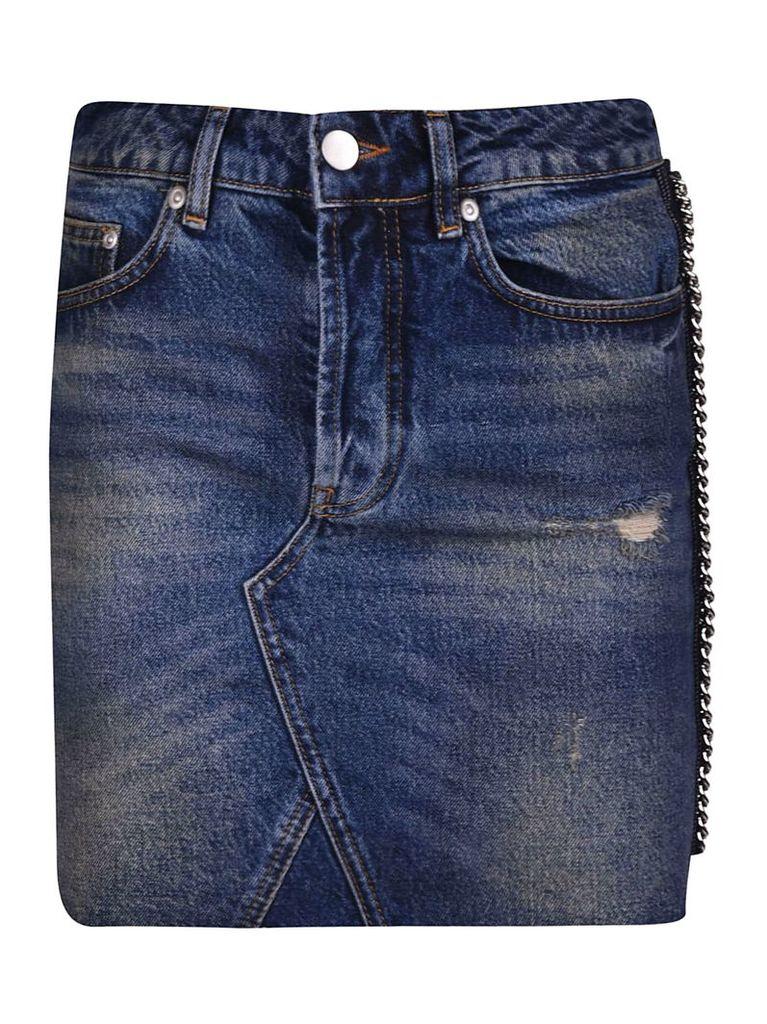 Victoria Beckham Chain Trim Skirt