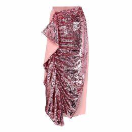Paula Knorr Pink Sequinned Midi Skirt