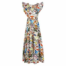 Mary Katrantzou Butterfly-print Stretch-cotton Maxi Dress
