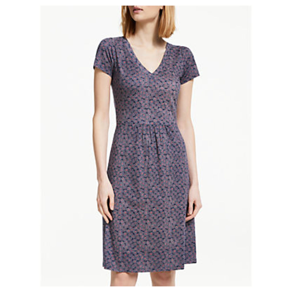 Boden Penelope Jersey Dress, Navy Floral Spray