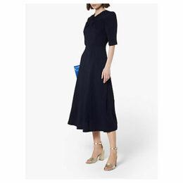 L.K.Bennett Mariann Twist Neck Dress, Navy
