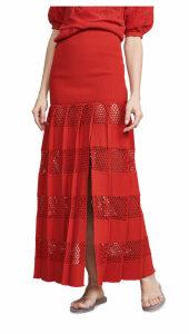 Sonia Rykiel Textured Stripe Skirt