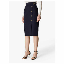 Karen Millen Buttoned Pencil Skirt