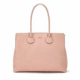 Furla Alba L Pink Leather Hand Bag
