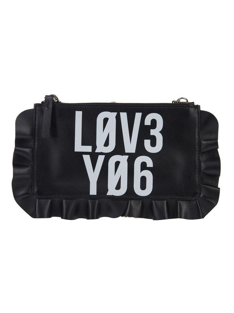 Red Valentino Ruffled Trim Shoulder Bag