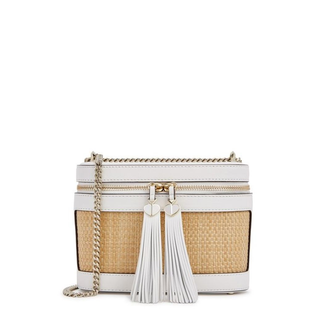 Kate Spade New York Rose Small White Leather Cross-body Bag