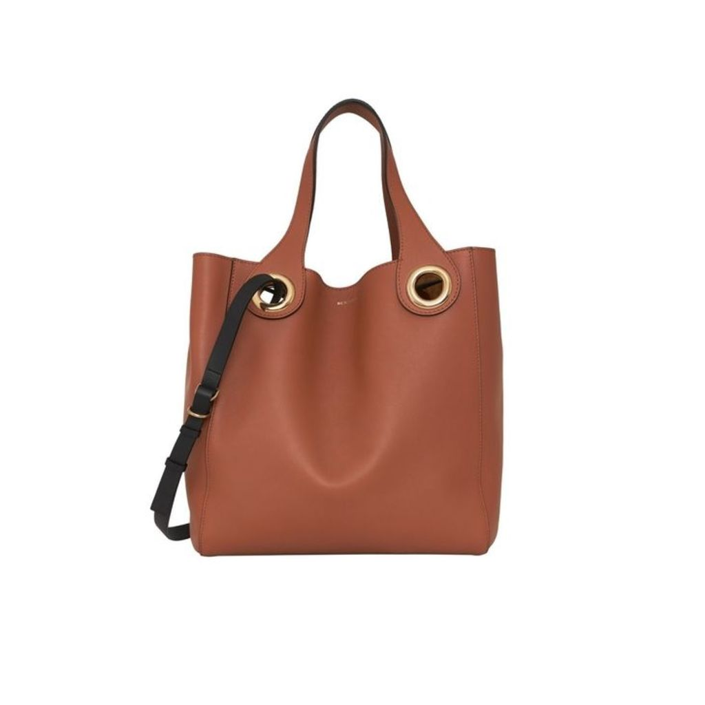 Burberry The Leather Grommet Detail Tote