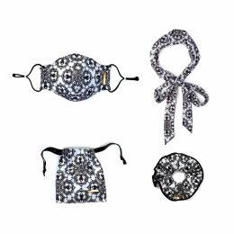 McVERDI - Long Blue Striped Denim Skirt