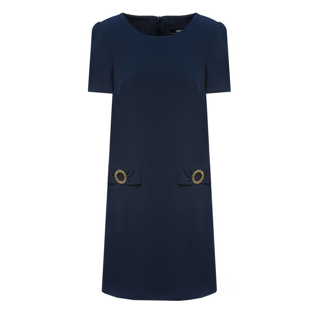 Nissa - Golden Detail Office Dress