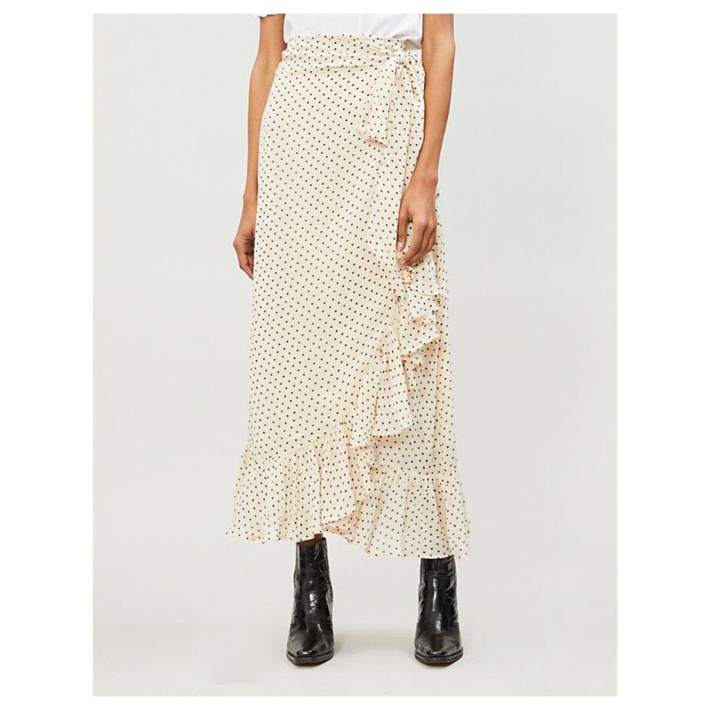 Elm high-rise crepe wrap skirt