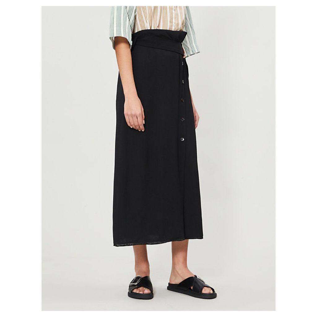 Kellan buttoned-down woven skirt