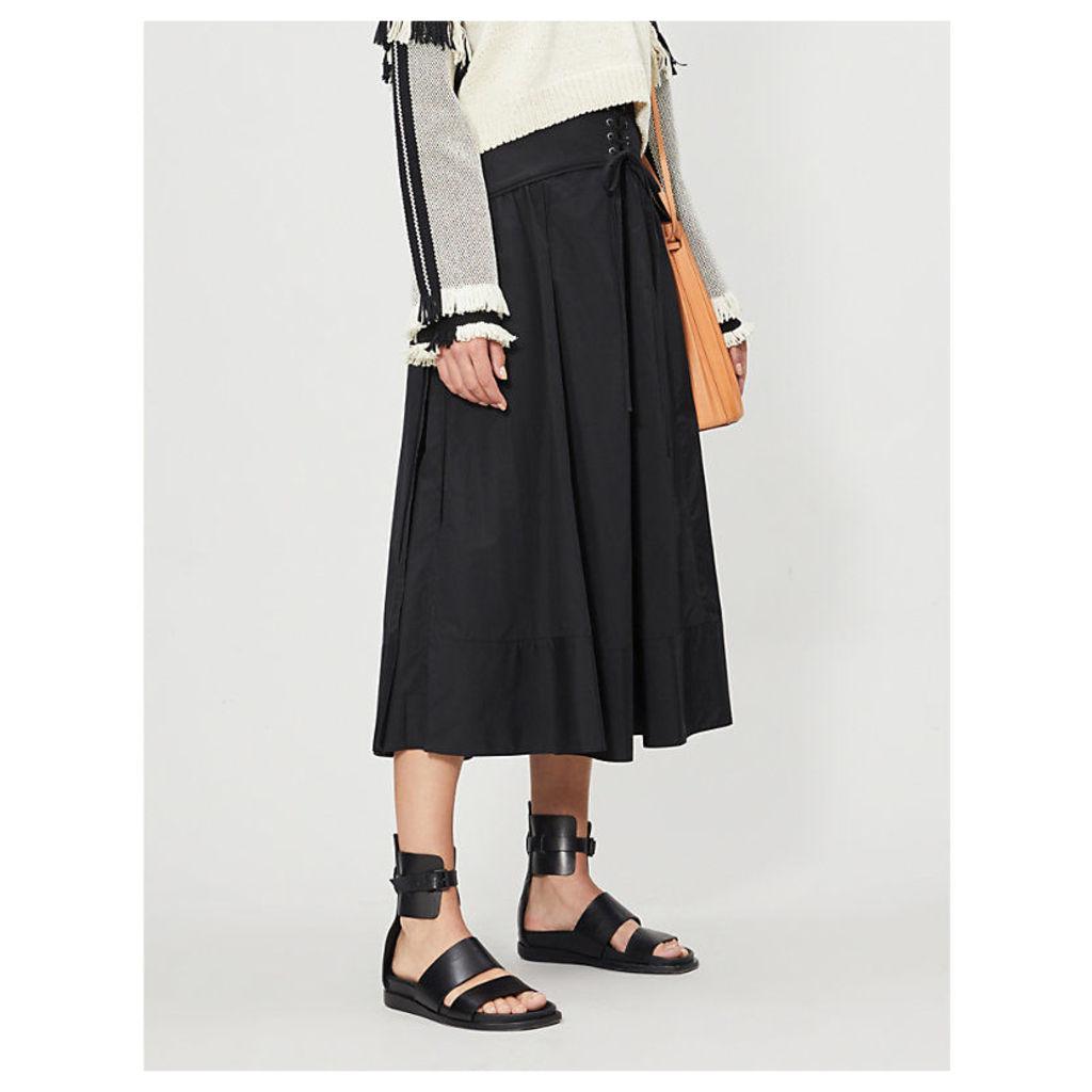 Corset cotton-poplin skirt