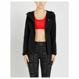 Packable shell windbreaker jacket