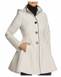 Laundry by Shelli Segal Fit-and-Flare Contrast Stitched Anorak