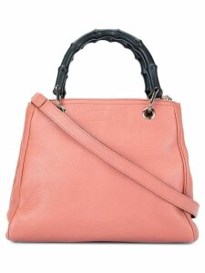 Gucci Pre-Owned Mini Bamboo Leather Shopper - Pink