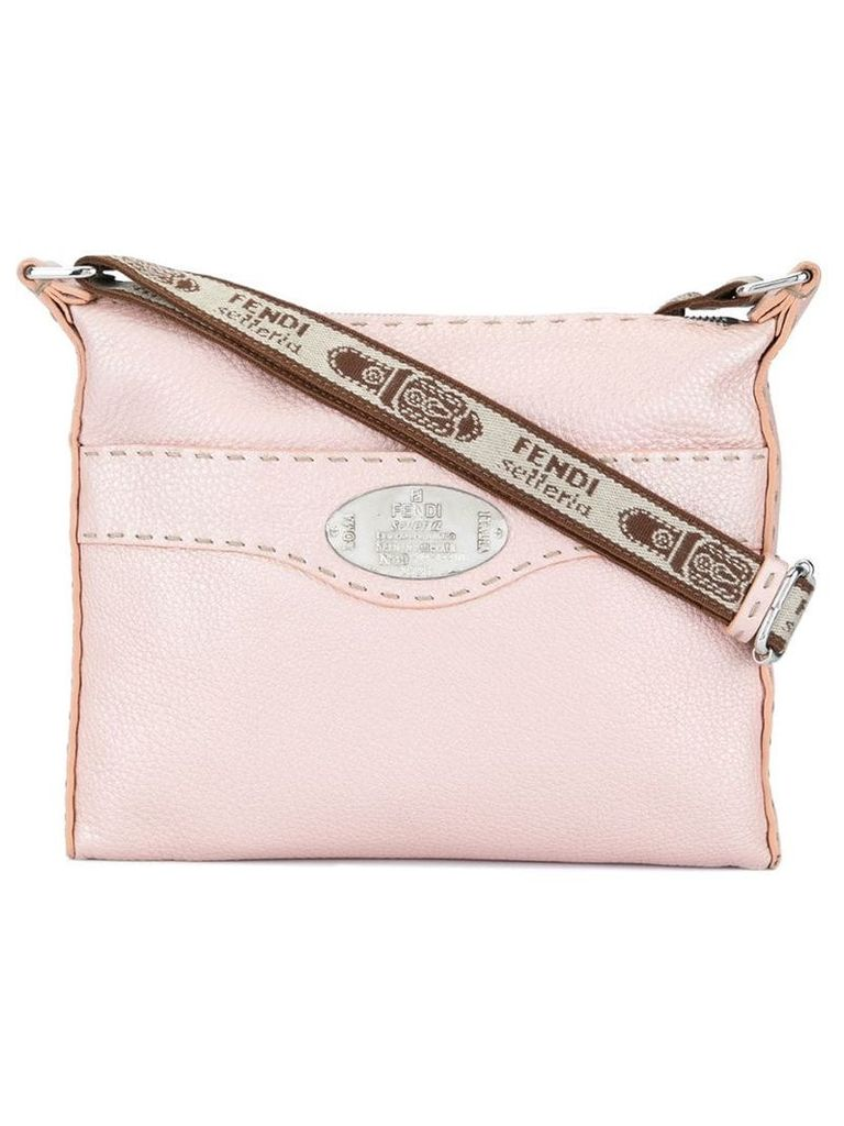 Fendi Vintage Leather Selleria Crossbody Bag - Pink