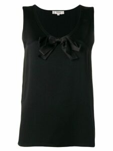 Yves Saint Laurent Pre-Owned 1990's bow detail top - Black