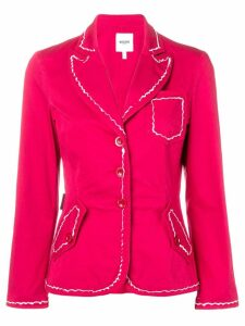 Moschino Pre-Owned 2000's contrast stitching blazer - Red