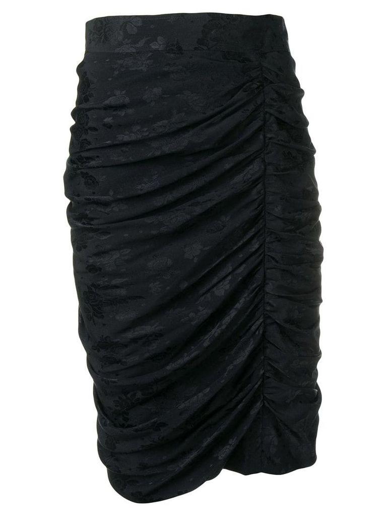 Emanuel Ungaro Pre-Owned 1980's ruched detail skirt - Black