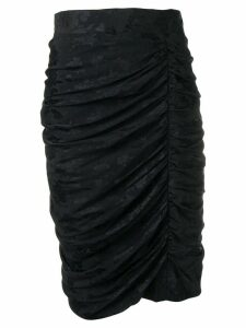 Emanuel Ungaro Pre-Owned 1980's ruched detail skirt - Black