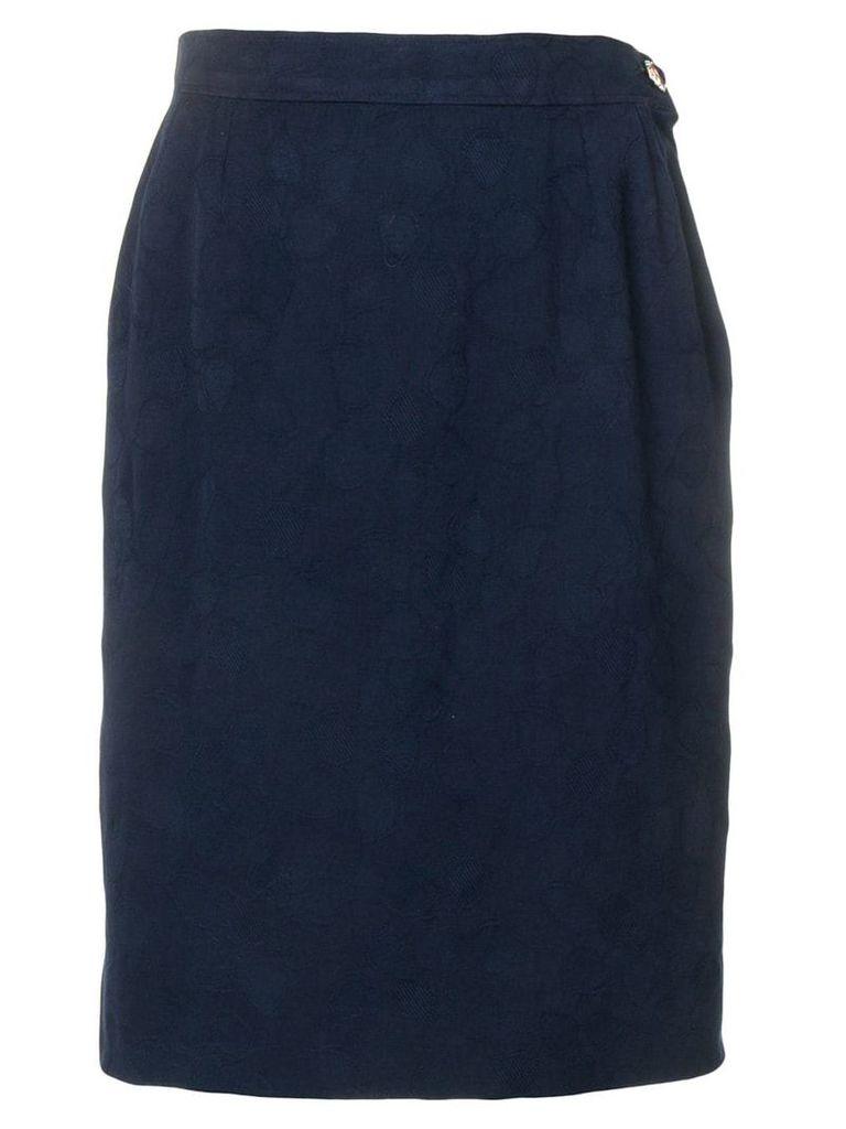 Yves Saint Laurent Vintage 1980's straight fit skirt - Blue